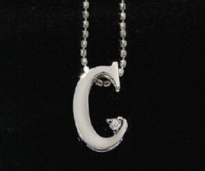 K18 ダイヤモンド イニシャル ペンダント トップ 「C」ネックレス ゴールド ダイアモンド アルファベット 18K 18金 誕生日 4月誕生石 メッセージ ギフト 贈り物