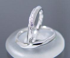 マリッジリング ダイヤモンド 「Silk」 プラチナ900 (レディース:1〜20号 メンズ:10〜29号)