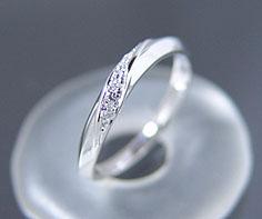 マリッジリング ダイヤモンド 「Silk」 プラチナ900 (レディース:1〜20号)