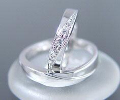 マリッジリング ダイヤモンド 「Bird」 プラチナ900 (レディース:1〜20号 メンズ:10〜29号)