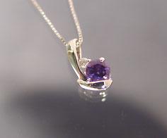 ペンダント アレキサンドライト ダイヤモンド 「chiarita」 プラチナ900 ベネチアンチェーン 送料無料