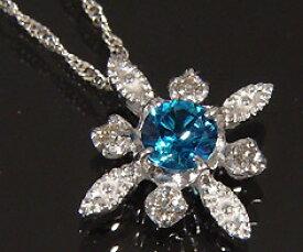 ペンダント カラーストーン ダイヤモンド 「solare」 ゴールド K18 スクリューチェーン 送料無料