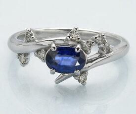 K18 ブルーサファイア ダイヤモンド リング 「spumare」送料無料 指輪 18K 18金 ゴールド サファイヤ ダイアモンド 誕生日 9月誕生石 文字入れ 刻印 ピンキーリング対応可能 メッセージ ギフト 贈り物