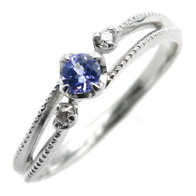 K18 タンザナイト ダイヤモンド リング 「cresta」 指輪 ゴールド 18K 18金 ダイアモンド ブルーゾイサイト 誕生日 12月誕生石 刻印 文字入れ メッセージ ギフト 贈り物 ピンキーリング対応可能