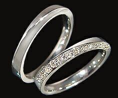 ダイヤモンド マリッジリング 「Balance」 PT900(レディース:1〜20号 メンズ:10〜29号)ペアリング セット プラチナ ダイアモンド 結婚指輪 ギフト包装 刻印無料
