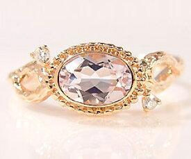 K18 クンツァイト ダイヤモンド リング 「driade」 指輪 ゴールド 18K 18金 木目 刻印 文字入れ メッセージ ギフト 贈り物 ピンキーリング対応可能