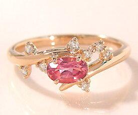 K18 ピンクトルマリン ダイヤモンド リング 「spumare」送料無料 指輪 ゴールド 18K 18金 ダイアモンド 誕生日 10月誕生石 刻印 文字入れ メッセージ ギフト 贈り物 ピンキーリング対応可能