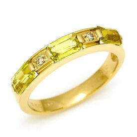 リング レモンクォーツ ダイヤモンド 「lucente」 ゴールド K10