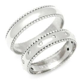 マリッジリング ダイヤモンド 「Polkadots」 プラチナ900 (レディース:1〜20号 メンズ:10〜29号)