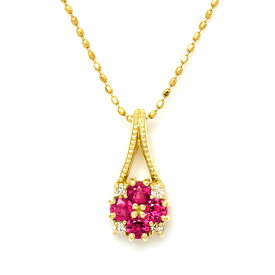 【OPEN17周年企画開催中】ペンダントトップ ルビー ダイヤモンド 「bouquet」 ゴールド K18 送料無料