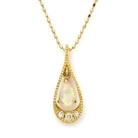 ペンダントトップ オパール ダイヤモンド 「versare」 ゴールド K18