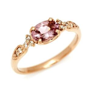 【OPEN17周年企画開催中】K18 シャンパンガーネット ダイヤモンド リング 「amanza」送料無料 指輪 ダイアモンド ゴールド 18K 18金 誕生日 1月誕生石 刻印 文字入れ メッセージ ギフト 贈り物 ピンキーリング対応可能