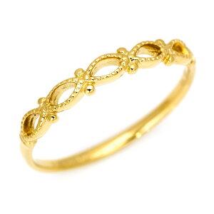 【OPEN17周年セール対象商品】K18 地金 リング 「infinite」送料無料 指輪 18K 18金 ゴールド メタル 文字入れ 刻印 ピンキーリング対応可能 メッセージ ギフト 贈り物