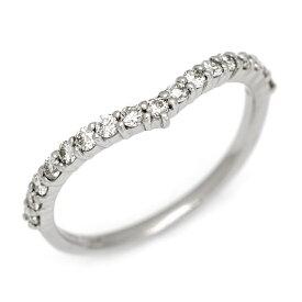K18 ダイヤモンド 0.24ct Vラインエタニティリング 「flesso」 指輪 ゴールド 18K 18金 ダイアモンド エタニティーリング V字 誕生日 4月誕生石 メッセージ ギフト 贈り物 ピンキーリング対応可能
