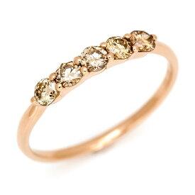リング ブラウンダイヤモンド 0.3ct ゴールド K18 「clarita」