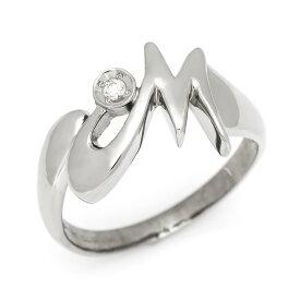 SV925 シグニティキュービックジルコニア イニシャル リング 「M」指輪 シルバー925 SILVER スターリングシルバー アルファベット 文字入れ 刻印 ロジウムコーティング メッセージ ギフト 贈り物 ピンキーリング対応可能
