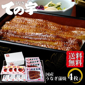 母の日 2021 ギフト プレゼント うなぎ 鰻 国産 蒲焼 大門(だいもん) 400g(100g×4尾) ての字 送料無料 手焼き