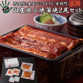 うなぎ 鰻 国産 蒲焼 ギフト プレゼント 赤羽門(あかばねもん) 200g(100g×2尾) ての字 手焼き
