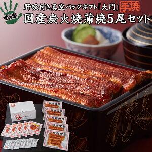 うなぎ 鰻 国産 蒲焼 ギフト プレゼント 大門(だいもん) 500g(100g×5尾) ての字 送料無料 手焼き