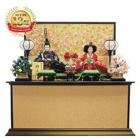 雛人形 コンパクト 金格子屏風 収納飾り! インテリア