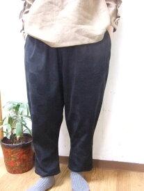 【秋冬限定】【大きいサイズ4L〜5L】ドットプリントコーデュロイ(コール天)・サルエル・パンツ・(ポケット付き)(ダークブルー・クロ)(日本製)