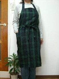 ・リネン・エプロン(ブラックウォッチ)10P02Dec11