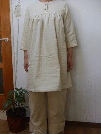 【大きいサイズ4L〜5L】トリプルガーゼ7分袖チュニック・スーツ(ルームウエアー)(6色)パンツ丈選択可、(7分袖、長袖に変更可)(日本製) 【fsp2124】
