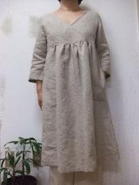 【大きいサイズ2L〜3L】 リネン・7分袖・カシュクールワンピース(4色)【smtb-k】【w1】