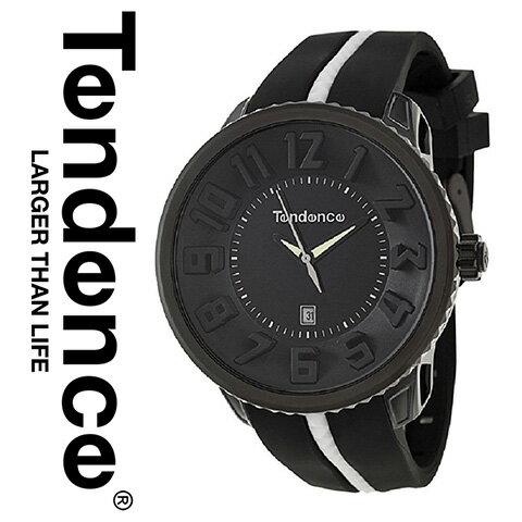テンデンス 時計 テンデンス 腕時計 TENDENCE メンズ レディース 02033010AA E4 インポート ラウンドガリバー ブラック 海外取寄せ 送料無料