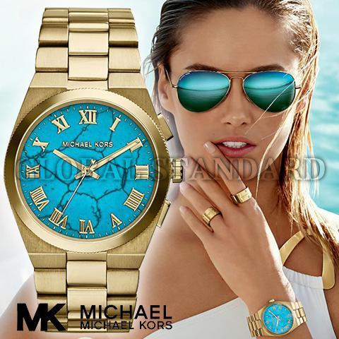 マイケルコース 時計 マイケルコース 腕時計 レディース MK5894 Michael Kors インポート 誕生日 ギフト プレゼント 彼女 ゴールド ターコイズ 海外取寄せ 送料無料