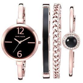 アンクライン 時計 レディース スワロフスキー 時計 アンクライン 腕時計 Anne Klein AK 3290BKST インポート スワロフスキー ブレスレットセット 海外取寄せ 送料無料
