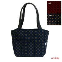 【手作りキット】オックス幾何柄で作るディアトートバッグ(本革スナップ付き)