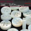【ボタンセット】白蝶貝3mm厚ボタン10mm(3個セット)
