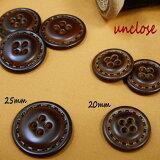 【ボタンセット】革調ステッチデザインボタン