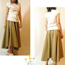 型紙/パネル・ロングフレアースカート