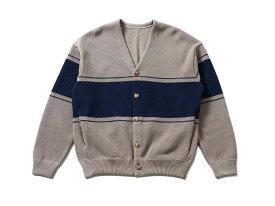 crepuscule border moss stitch V/N cardigan(2001-002)【クレプスキュール】【メンズファッション】【トップス】【ストリート】【ストアレビュー記載でソックスプレゼント対象品】