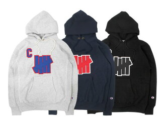 UNDEFEATED X CHAMPION REVERSE WEAVE PULLOVER HOOD (153-518101CU)