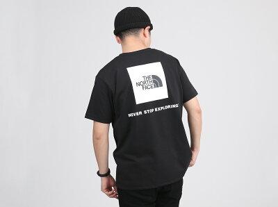 THENORTHFACES/SBackSquareLogoTee(NT32144)【ザ・ノースフェイス】【メンズ】【トップス】【Tシャツ】【半袖】【バックプリント】【ショップレビュー記載でソックスプレゼント対象品】