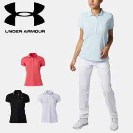 ネコポス アンダーアーマー レディース クリアランス ポロシャツ 半袖 ボタン ゴルフ トレーニング UA スレッドボーンピケ オールシーズンギア フィッティド 1319516