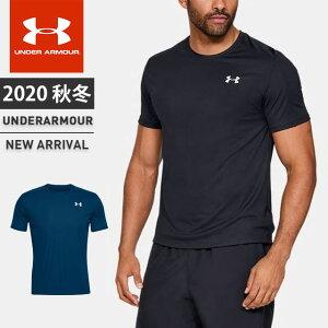 ネコポス アンダーアーマー クリアランス メンズ Tシャツ 半袖 丸首 UA スピードストライドショートスリーブクルー フィッティド 軽量 吸汗速乾 ランニング トレーニング 1326564