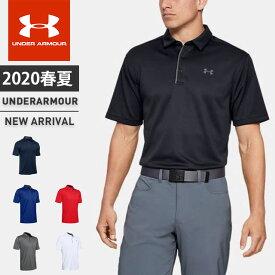 ネコポス アンダーアーマー ポロシャツ メンズ 半袖 ボタン UA テックポロ ヒートギア ルーズ ゴルフ 1290140