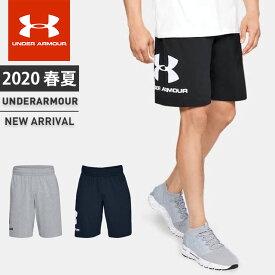 ネコポス アンダーアーマー メンズ ショートパンツ ハーフパンツ UA スポーツスタイル コットン グラフィック ショーツ トレーニング ルーズ 吸汗速乾 1329300 UNDER ARMOUR