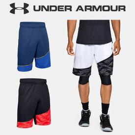 ☆ネコポス アンダーアーマー メンズ ショートパンツ バスケットボール UA ベースライン 25cm ショーツ ルーズ 速乾 ポケット ニット トレーニング 1343004 UNDER ARMOUR あす楽対応可