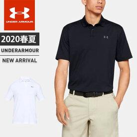 ネコポス アンダーアーマー メンズ ゴルフ ポロシャツ 半袖 ボタン UA パフォーマンスポロ ルーズ 吸汗速乾 抗菌防臭 UVカット 1342080 UNDER ARMOUR