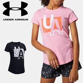 ☆ネコポス アンダーアーマー クリアランス ジュニア Tシャツ 小学生 女の子 1351643 ヒートギア 夏用 UNDER ARMOUR ガールズ あす楽対応可