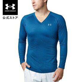 セール価格 公式 アンダーアーマー UNDER ARMOUR UAヒートギアフィッティドロングスリーブVネックノベルティ ゴルフ ベースレイヤー メンズ 1331423 ゴルフウェア メンズ tシャツ メンズ ブランド