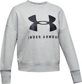 セール価格【公式】アンダーアーマー(UNDERARMOUR)ジュニアUAスポーツスタイルフリースクルー(ライフスタイル/ロングスリーブ/GIRLS)