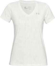 セール価格【公式】アンダーアーマー(UNDER ARMOUR)レディース tシャツ UAテックショートスリーブVネックマーブルジャカード ( トレーニング トレーニングウェア フィットネス ウェア/Tシャツ/WOMEN ウーマン レディース ) 1328880