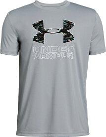 セール価格【公式】アンダーアーマー(UNDER ARMOUR)ジュニア tシャツ UAプリントTシャツ<Fill Logo> ( トレーニング トレーニングウェア フィットネス ウェア/Tシャツ/BOYS ジュニア ) 1329819
