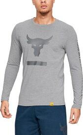 【公式】アンダーアーマー(UNDER ARMOUR)tシャツ UA Project Rock ロングスリーブTシャツ<Hardest Worker> ( トレーニング トレーニングウェア フィットネス ウェア/Tシャツ/MEN メンズ ) 1345814 トレーニング tシャツ メンズ ブランド